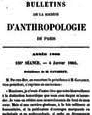 La société d'anthropologie de Paris ou l'anthropologie physique institutionnalisée